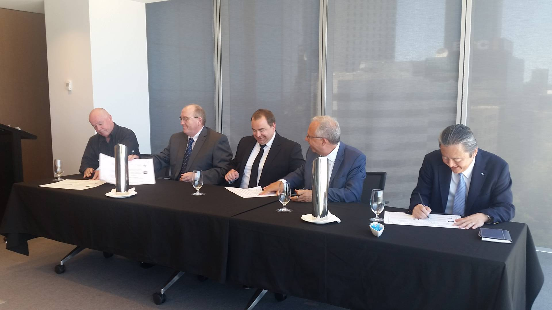 INPEX signing ceremony Perth WA 24th January 2017