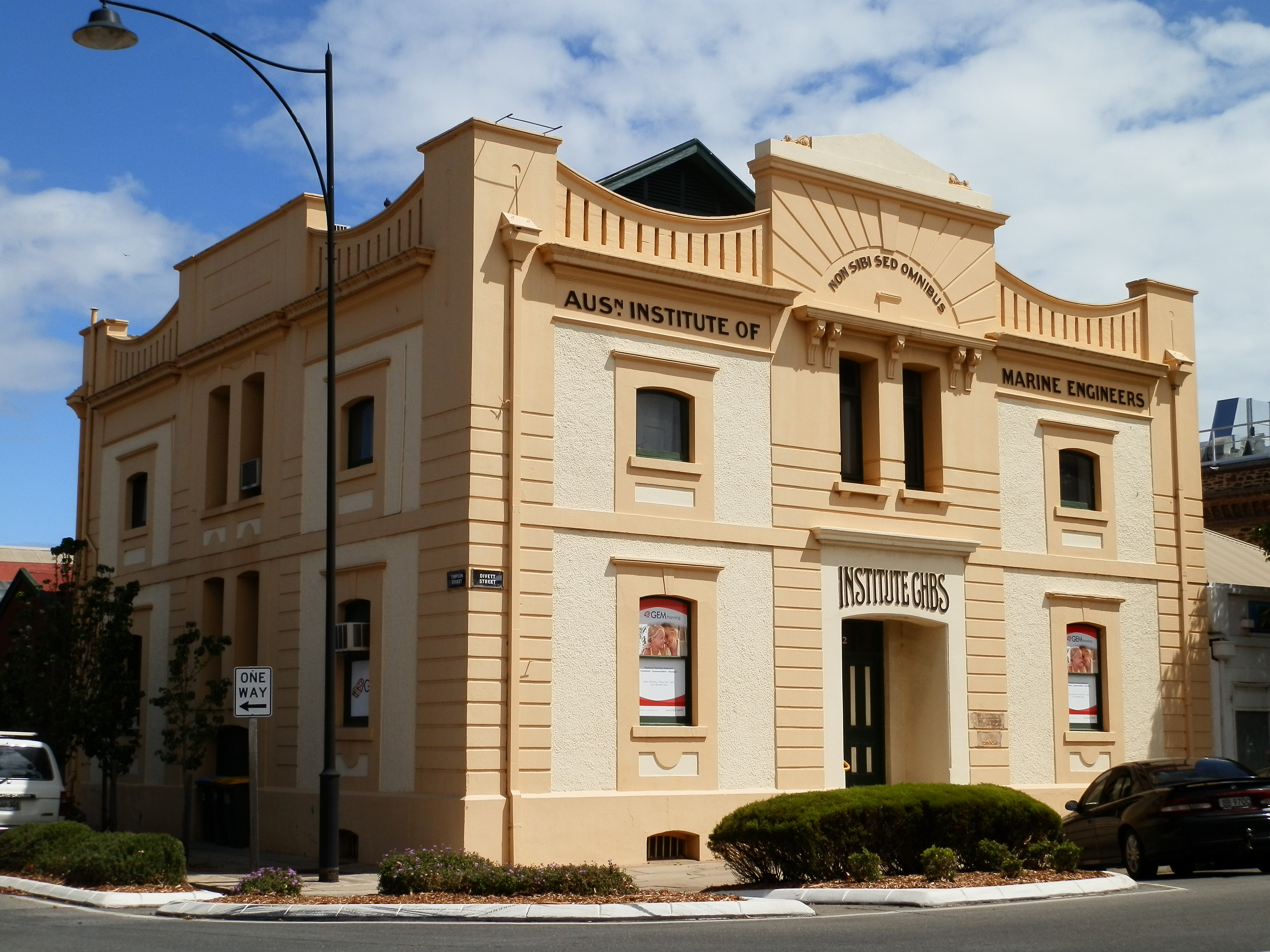 AIMPE building in Port Adelaide SA at the time of the centenary of AIMPE ownership in 2013
