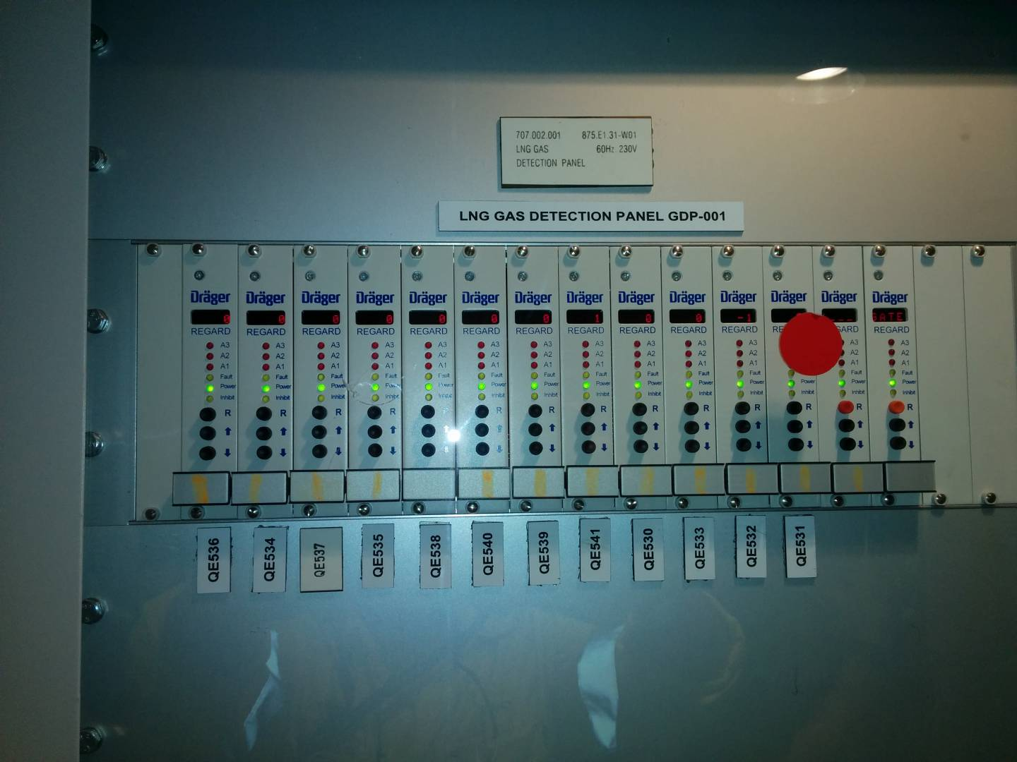 Gas Detection Panel